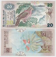 SRI LANKA (CEYLON) 20 RUPEES (1979), P86, UNC NOTE - FLORA AND FAUNA SERIES