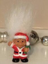 Vintage Russ Tiny Troll Doll Miniature Figurine Santa Claus Christmas