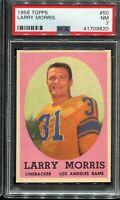 1958 Topps Football #50 LARRY MORRIS Los Angeles Rams  PSA 7 NM
