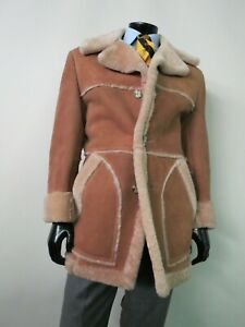 Gorgeous VTG Lakeland Full collar 100% Shearling leather coat 42