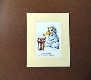 Simon Drew Hooray Beer Print Lawrence of Arabia Christmas Gift Mounted Signed