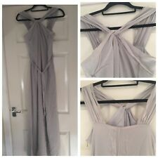 ARMANI EXCHANGE Light Grey 100% Silk Maxi Dress Occasion Size US 0 UK 4-6