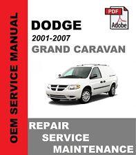 Dodge Caravan / Grand Caravan 2001 - 2007 Service Repair Workshop Manual