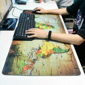 90 x 40cm Extra Large XXL Gaming Mouse Mat Pad Desk for PC Laptop Earth Map