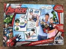 Marvel Avengers Superhero Selfie Props With Frame & Stickers Kids Partys Wedding