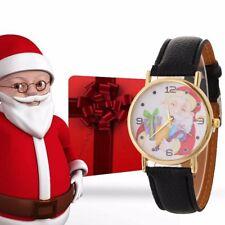 New Women Girls Faux Leather Belt Watch Casual Quartz Wrist Watch Christmas Gift