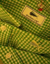 SOUTHERN LURE Long Sleeve GREEN CHECKED Button Down MEDIUM