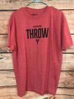 Saucony Men's T Shirt size XL Red Short Sleeve