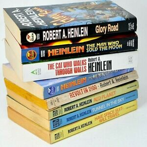 Robert Heinlein Lot of 8 Books Classic Science Fiction