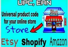 10000 EAN UPC codici a barre tutti i marketplace worldwide compatibile gs1