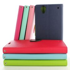 For Sony Xperia T2 Ultra Leather Case Flip Folio Wallet Pouch Protective Cover