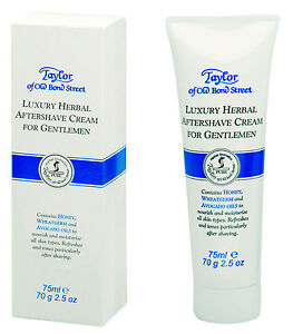 Taylor of old Bond Street Luxury Herbal Aftershave Cream Herbs Cream Tube 75ml