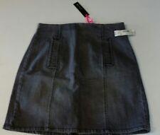 I love ronson Grey Denim Skirt NWT 12