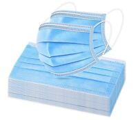 50/100 PCS Blue Face Mask Mouth & Nose Protector Respirator Masks USA Seller