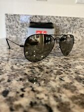 Ray Ban Aviator RB3025 002/40 Black Frame Silver Mirrored Lenses 58MM