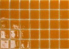75 MATE NARANJA vítrea Mosaico de vidrio 20mm baldosas A92