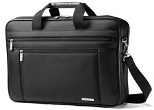 "Samsonite Classic Business 2 Gusset 17"" Laptop Toploader Briefcase - Black"