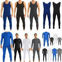 Mens Spandex Full Body Leotard Bodysuit One Piece Unitard Jumpsuit Dancewear