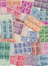 MINT 3 CENT US POSTAGE STAMPS 12 DIFF  BLOCKS OF 4  MORE THAN 60 YEARS OLD NH