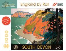 Pomegranate Artpiece Puzzle England By Rail South Devon 1000 Piece New