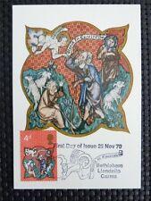 GB UK MK 1970 CHRISTMAS BETHLEHEM MAXIMUMKARTE CARTE MAXIMUM CARD MC CM c5071