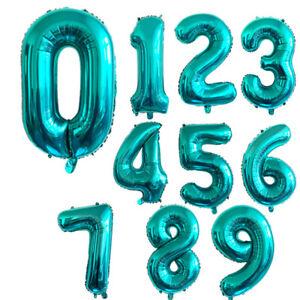 32 inch Blue-Green Nylon Digital Foil Balloons Birthday Wedding Party Decoration