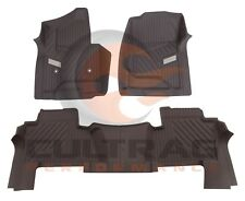 2015-2018 Chevrolet Tahoe GM Front & 2nd Row Rear All Weather Floor Liners Cocoa
