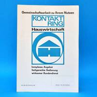 Aspirador 7000.8 DDR 1970 Folleto Publicidad Hoja de Anuncio Anillo Contacto E