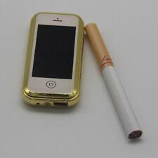 Edles USB Feuerzeug im Smartphone Style, aufladbar, Sturmfeuerzeug, Geschenkbox