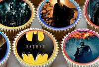24 X BATMAN CUPCAKE TOPPERS EDIBLE PREMIUM RICE PAPER 3579