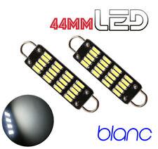 2 Ampoules navette 44 mm 44mm résistance 6 LED Blanc Habitacle Plafonnier coffre