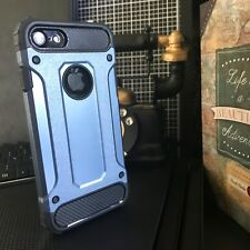 Apple iPhone 8 Heavy Urban Metal Ballistic Rugged Layer Blue MINT™ Case