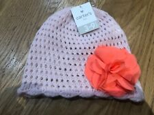 Carters Baby Girl Hat Size 3-9 Months