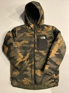 The North Face Boys' Reversible Perrito Jacket New Taupe Green Size L MSRP $110