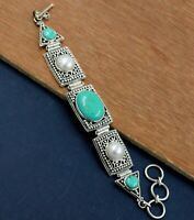 925 Sterling Silver Jewelry Turquoise Pearl Gemstone Daily Wear Gift Bracelet