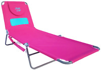 New | Sun In Comfort Ladies Comfort Furniture | Chaise Lounge Beach Chair, Pink