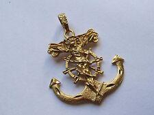 Vintage Catholic Religious Holy Medal - Crucifix Gold Nautical Military