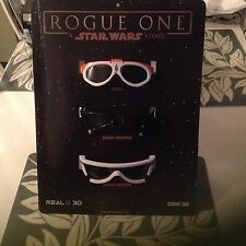 Star Wars Rogue One 3D Glasses Movie real 3D 3pc Last Jedi  SOLO disney