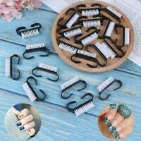 10x Nail Clean Brush Finger Care Dust Clean nail art Manicure brush Black t I5Q2