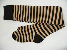 fb6ec7a80e9 Fashion Women Ladies Over Knee High Socks BLACK BEIGE STRIPED SOCKS NEW