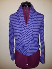 Ivivva Girls' Four Count Rulu Convertible 4-Way Wrap Purple Stripe 10 VGUC
