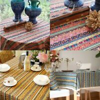 Stripe Tribal Ethnic Cotton Fabric for Upholstery Curtain Table Cloth 1.5*1M