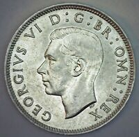 1944 Great Britain Silver Florin Coin XF Extra Fine Silver UK Coin George V