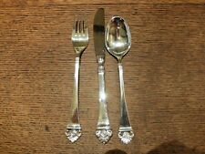 Robbe&Berking 'Dante' Sterling Silver Table KnifeTable Fork&Dessert Spoon