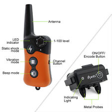 Ipets 900ft Remote Dog Shock Collar Rechargeable&Waterproof Dog Training Collar