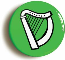 IRELAND BADGE BUTTON PIN (Size is 1inch/25mm diameter) ÉIRE IRISH CELTIC HARP