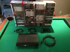 Sony Playstation 3 Super Slim  500GB Charcoal Black Console with games Fast Ship