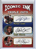 Michael Jordan Magic Johnson Larry Bird Custom Facsimile Autograph Card