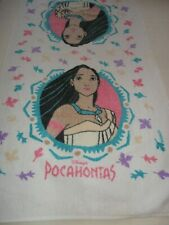 "DISNEY POCAHONTAS BATH TOWEL 100% COTTON , 23"" X 42""  Vintage"
