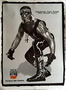 "HULK HOGAN POSTER WCW ORIGINAL TNT WRESTLING  POSTER 45"" X 32"" 1997 ROLLED MINT"